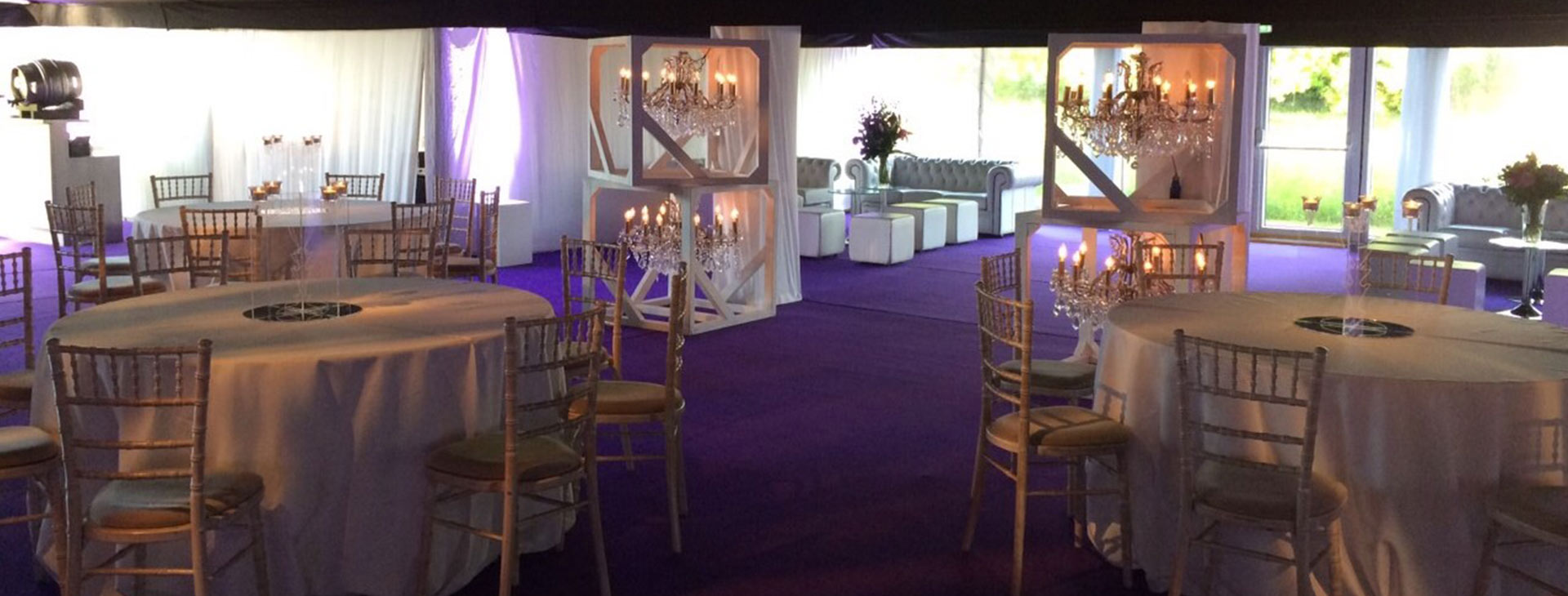 pop up nightclub in a marquee