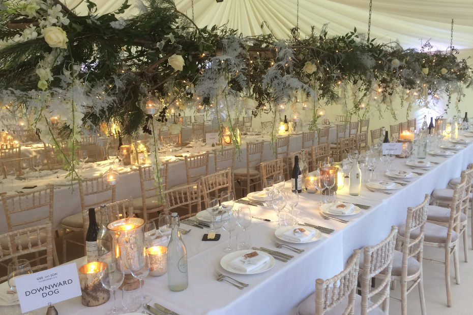 Winter Wedding in Marquee