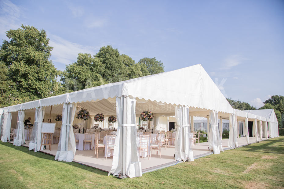 open air wedding marquee in summers
