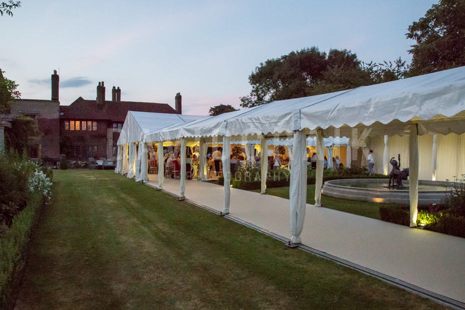 party marquee in garden