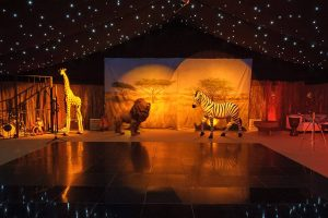 african themed party in a marquee