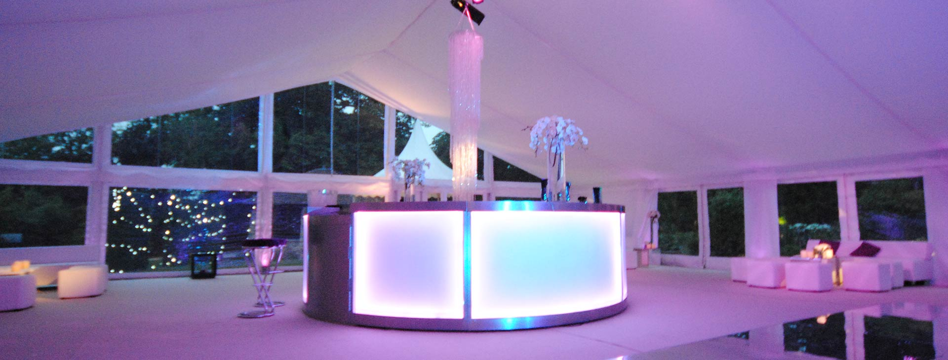 bar area in contemporary wedding theme