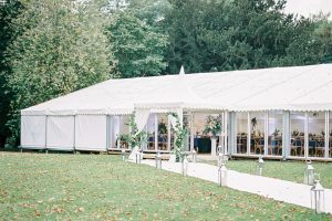 Luxury marquee for wedding at Aynhoe Park in the Cotwolds