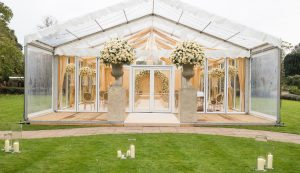 glass marquee for wedding