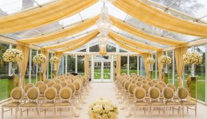 glass marquee wedding Le Manoir Aux Quat' Saisons