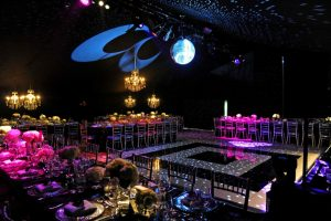 Dance floor with glitterball with provide nightclub style to party marquee