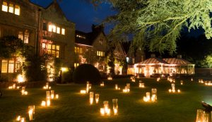 Candles in the garden of Le Manoir Aux Quat Saisons
