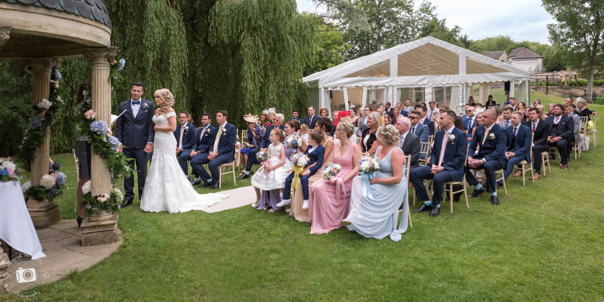 Outdoor Wedding Ceremony At The Old Swan & Minster Mill Hotel Cotswolds