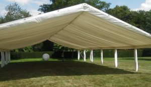 Open sided ceremony marquee