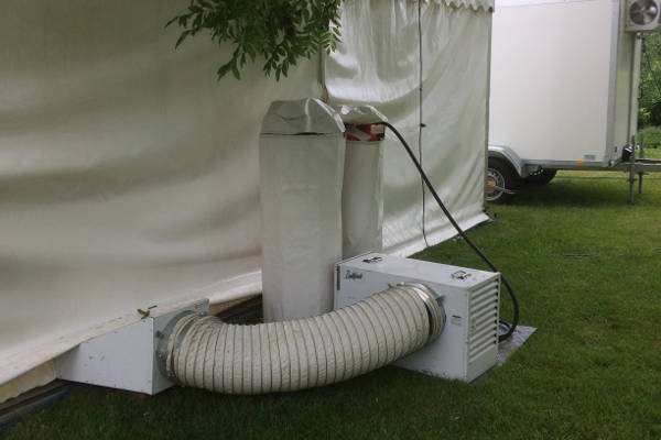 Heater unit for marquee