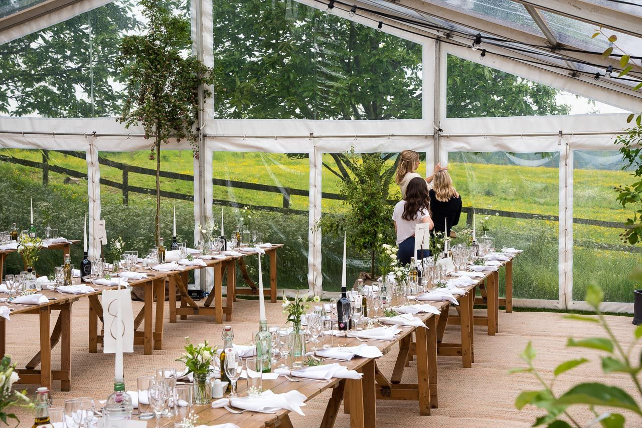 clear roof marquee interior